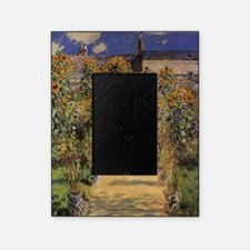 Artist's Garden at Vetheuil by Claud Picture Frame