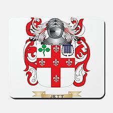 Jett Coat of Arms (Family Crest) Mousepad