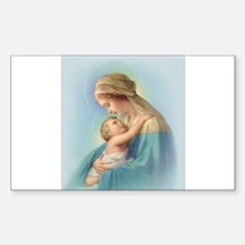 Mary and Jesus Rectangle Decal