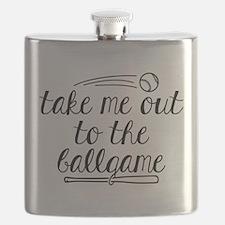 Take Me Out To The Ballgame Flask