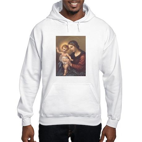 Mary and Jesus Hooded Sweatshirt