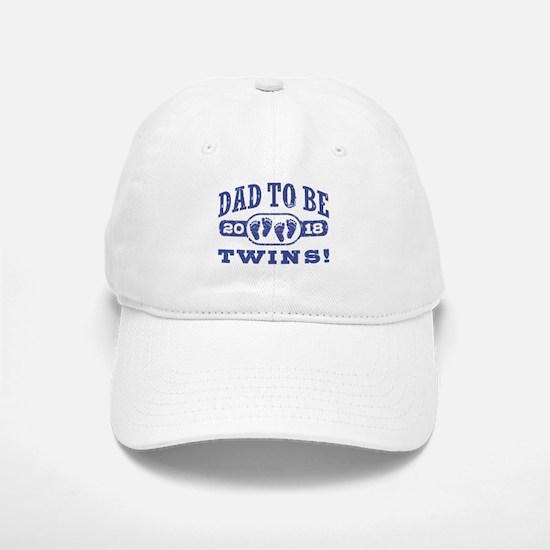 Dad To Be Twins 2018 Baseball Baseball Cap