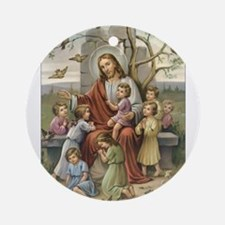 Jesus and Children Ornament (Round)