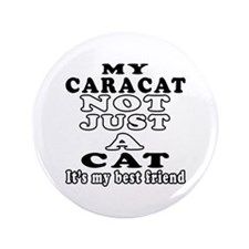"Caracat Cat Designs 3.5"" Button"