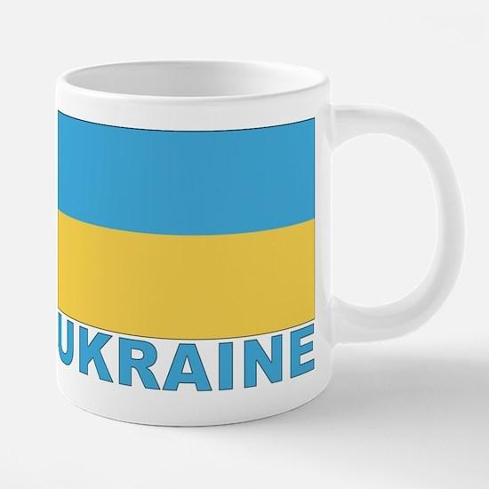 Cute Ukraine flag 20 oz Ceramic Mega Mug