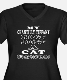 Chantilly Tiffany Cat Designs Women's Plus Size V-