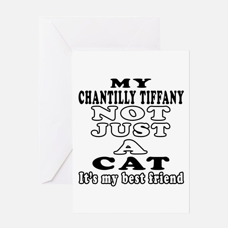 Chantilly Tiffany Cat Designs Greeting Card
