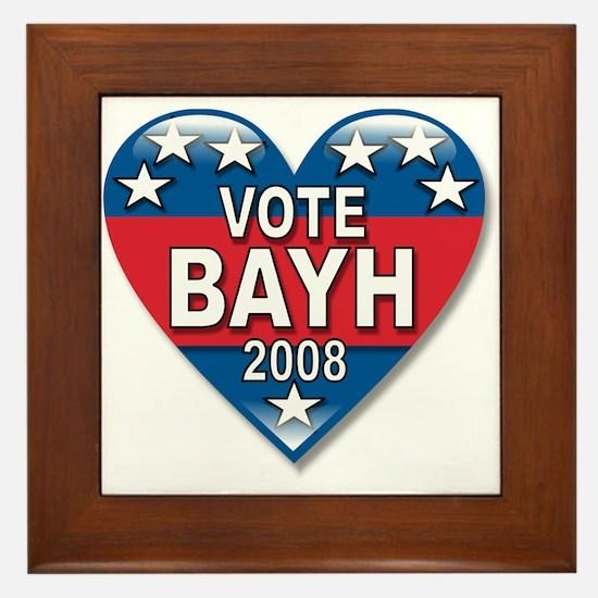 Vote Evan Bayh Elect 2008 Political Framed Tile