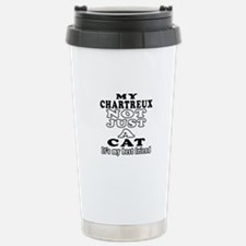 Chartreux Cat Designs Travel Mug