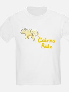 Cairn Terrier Peeing Cairns Rule Kids T-Shirt