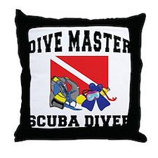 Dive Master SCUBA Throw Pillow