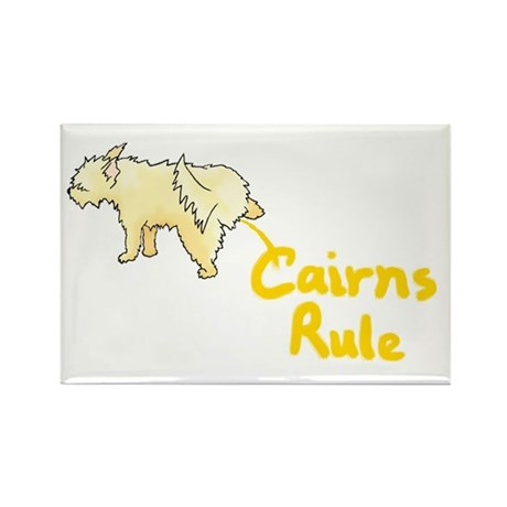 Cairn Peeing Cairns Rule Rectangle Magnet