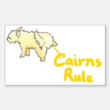 Cairn Peeing Cairns Rule Rectangle Decal