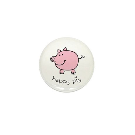 Happy Pig Mini Button (10 pack)