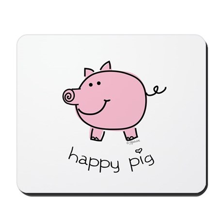 Happy Pig Mousepad