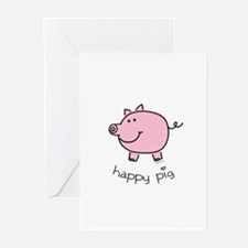 Happy Pig Greeting Cards (Pk of 10)
