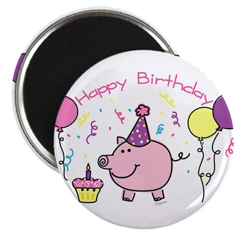 Girl Happy Birthday Magnet
