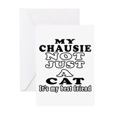 Chausie Cat Designs Greeting Card