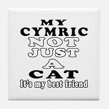 Cymric Cat Designs Tile Coaster