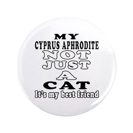 "Cyprus Aphrodite Cat Designs 3.5"" Button (100 pack"