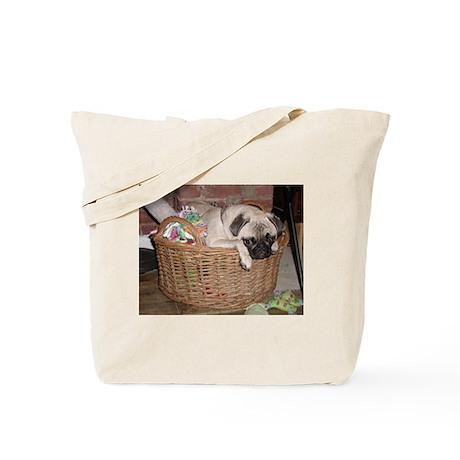 "Pug Stuff Tote Bag ""So Many Toys"""