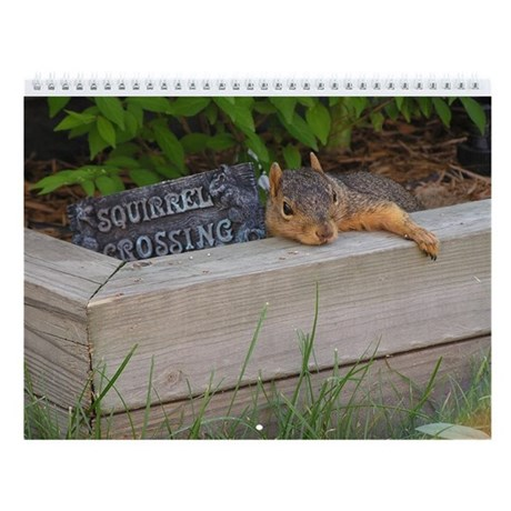 Year Of Squirrels Wall Calendar