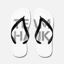 team-hank-cap-gray Flip Flops