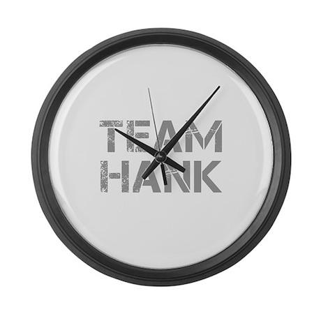 team-hank-cap-gray Large Wall Clock