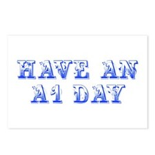 have-an-A1-day--max-blue Postcards (Package of 8)