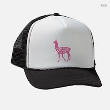 Pink Drama Llama Kids Trucker hat
