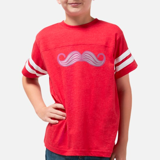 Pink Moustache Youth Football Shirt
