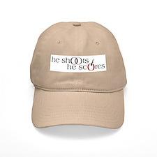 He Shoots. He Scores. Version II Baseball Cap