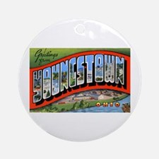 Youngstown Ohio Greetings Ornament (Round)