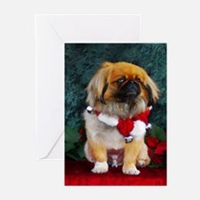 Pekingese Christmas Pumpkin Greeting Cards (Packag