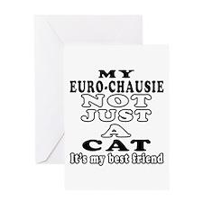 Euro-chausie Cat Designs Greeting Card