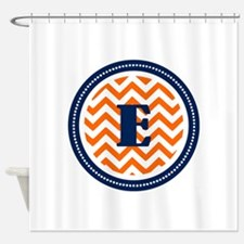 Orange & Navy Shower Curtain