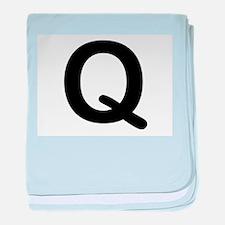 Letter Q baby blanket