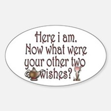 Two wishes Sticker (Oval)