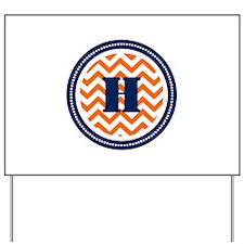 Orange & Navy Yard Sign