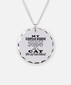 European Burmese Cat Designs Necklace