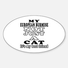 European Burmese Cat Designs Sticker (Oval)