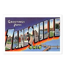 Zanesville Ohio Greetings Postcards (Package of 8)
