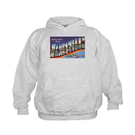 Zanesville Ohio Greetings (Front) Kids Hoodie