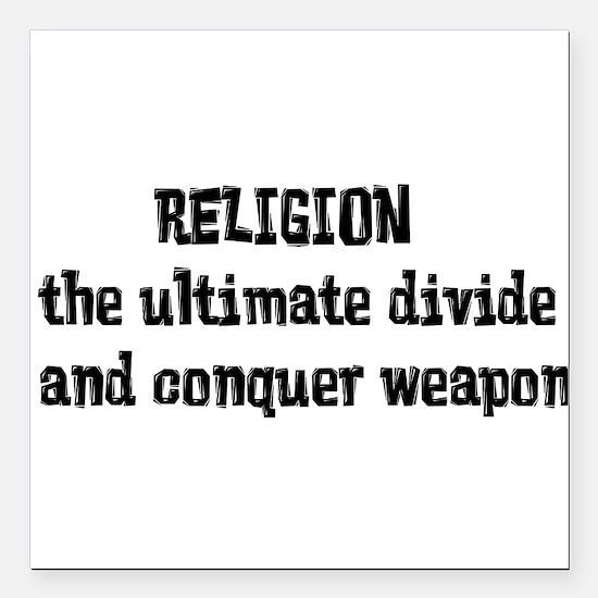 "Religion Weapon Square Car Magnet 3"" x 3"""