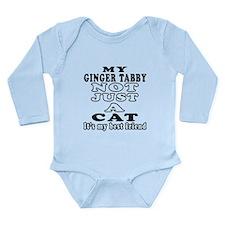 Ginger tabby Cat Designs Long Sleeve Infant Bodysu