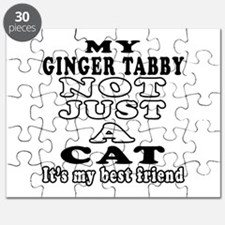 Ginger tabby Cat Designs Puzzle