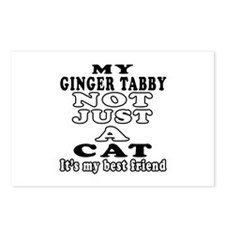 Ginger tabby Cat Designs Postcards (Package of 8)