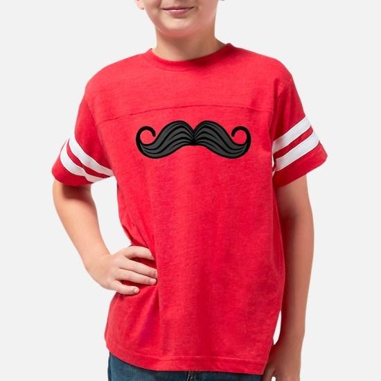 Retro Moustache Youth Football Shirt