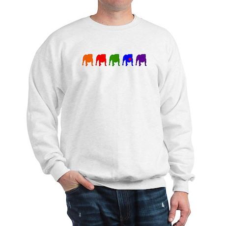 Colorful Bulldog Line Orange/Sweatshirt