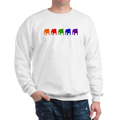 Colorful Bulldog Front Only Sweatshirt